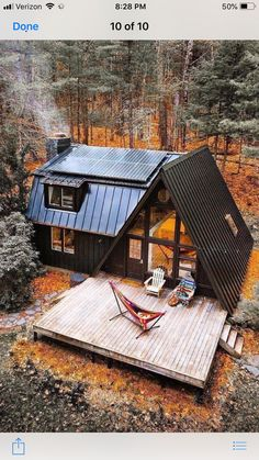 A frame house with barn style extension in black in woods - #black #extension #frame #house #style #woods - #Genel A Frame Cabin, A Frame House, Tiny House Cabin, Cabin Homes, Small Log Cabin, Cozy Homes, Cottage Homes, Cabin Design, Tiny House Design