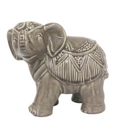Ceramic Elephant by Three Hands Corporation #zulily #zulilyfinds