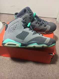 88c810c6a0db Nike Air Jordan 6 Retro Green Glow Gs Size 7.5y 543390-005  fashion   clothing  shoes  accessories  kidsclothingshoesaccs  boysshoes (ebay link)