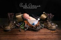 Idea's for Lineman Baby Pictures