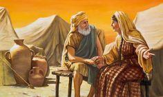 Abraham listening to Sarah