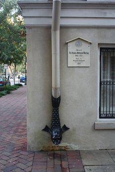 Downspout: a vertical pipe used to conduct water from a roof drain or gutter to the ground. It is also called a leader.