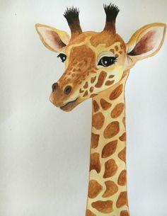 Giraffe - Watercolor