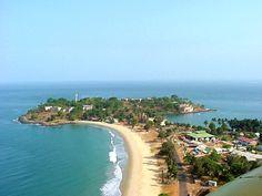 Aerial View of The Cape Sierra Lagoon - Freetown, Western- Sierra Leone