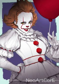 Female Pennywise Fandoms Tumblr, Movie Character Costumes, Costume Makeup, Halloween Themes, Diy Halloween, Halloween 2017, Scary Costumes, Female Clown Costume, Halloween Costumes