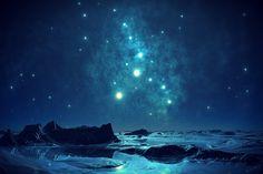 青, 空, 夜, ロマンチックな, ほとんど夜, 水, ロマンス, を参照してください, 風景, 気分