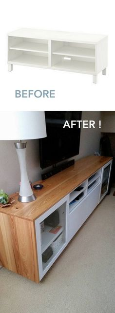 Ian's fabulous transformation of the BESTA TV units.