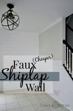 Faux Shiplap Wall Sawdust2stitches