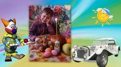 Праздничная красивая видео открытка Поздравление внуку с днем рождения ...