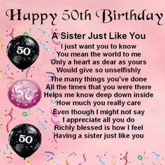 Personalised Coaster - Sister Poem - 50th Birthday + FREE GIFT BOX