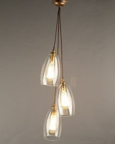 Clear Glass Cluster Pendant Ceiling Light, Upton Retro & Contemporary Design