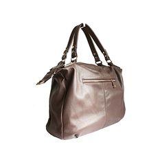 Sandy Italian Taupe Leather Satchel Handbag - £64.99 Italian Leather Handbags, Leather Satchel Handbags, Taupe, Beige, Italian Women, Stud Earrings, Tote Bag, Purses, Natural