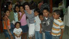 Me with the children of Danli, Honduras at church!