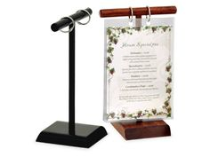 Menu Stands | Restaurant Table Tents | Table Stands and Card Holders | The Menu Shoppe Menu Covers