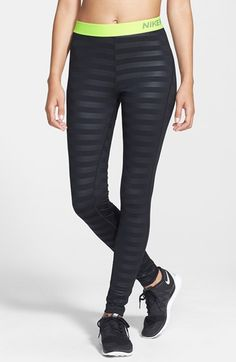 Nike 'Pro' Dri-FIT Embossed Compression Tights available at Womens Workout Outfits, Nike Outfits, Sport Outfits, Workout Attire, Workout Wear, Nike Fashion, Fitness Fashion, Fitness Gear, Nike High Tops