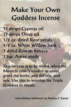 Crone Cronicles: Goddess Incense
