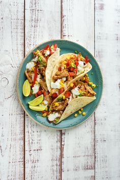 Smoky Chicken Tacos with Charred Corn, Sautéd Veggies, and Salsa Fresca   HelloFresh Recipe