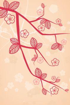 cherry blossoms graphic