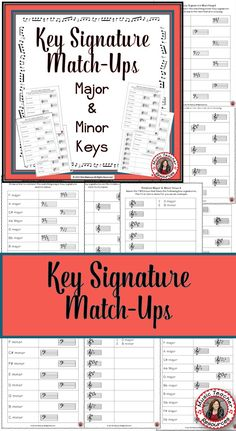 50 music worksheets aimed at reinforcing students' understanding and knowledge of key signatures.