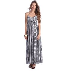 Mix print maxi dresses