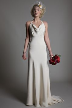 1000 images about halfpenny london bridal collection on for Satin cowl neck wedding dress