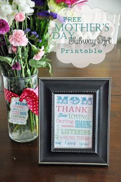 Fast, free and easy last minute Mother's Day gift ideas, {Too bad husbands don't read blogs!}