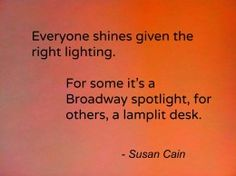 Everyone shines given the right lighting....