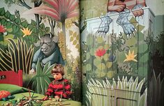 """""""Where the Wild Things Are"""" mural, 1970's"""