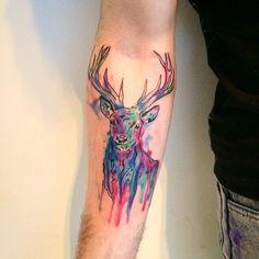Bildergebnis für geometric deer tattoo