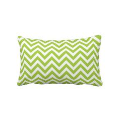 Lime Green Chevron Lumbar Pillow