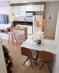41 Fraud, Deceptions, and Downright Lies About Inspiring Tiny Kitchen Design Ideas Exposed – homedecorsdesign Small Apartment Living, Small Apartments, Living Room Kitchen, Living Room Decor, Dining Room, Cuisines Design, Apartment Interior, Home And Living, Living Room Designs