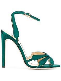 Shop online green Chloe Gosselin Clara sandals as well as new season, new arrivals daily. Chloe, Louboutin, Evening Sandals, Designer Sandals, Shoe Box, Fashion Shoes, Pumps, Stilettos, High Heels