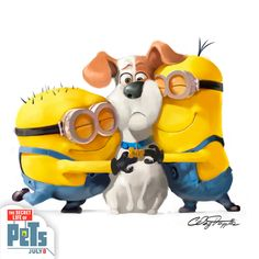 In celebration of National Pet Month, the @minionnation meet Max from The Secret Life of Pets. | In Theaters July 8
