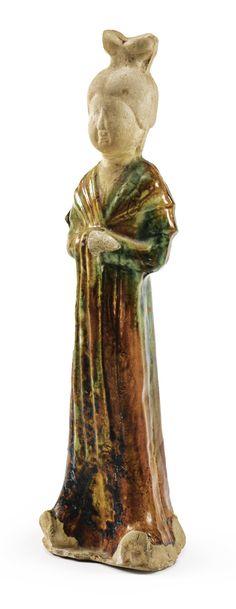 A 'sancai'-glazed of a lady, Tang dynasty (618-907)