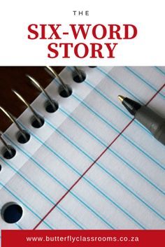 Six-word Stories is a great source of essay prompts that are slightly out of the box. Free Teaching Resources, Learning Activities, Six Word Story, Six Words, Essay Prompts, Afrikaans, Educational Technology, Teaching English, Butterfly