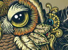 """""""Owl (zoom)"""" par Sergey & Olya Kovalenko"""