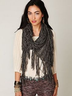 This is one of my favorite scarfs, I got it in red. FP Ladder Ribbon Shawl