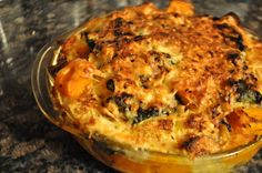 Thanksgiving dish in a pumpkin: Butternut Squash Bread Pudding