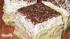 Gesztenyés-babapiskótás krémes | Nosalty Hungarian Desserts, Hungarian Cake, Hungarian Recipes, Sweet Desserts, No Bake Desserts, Dessert Recipes, Special Recipes, Cookie Recipes, Food And Drink