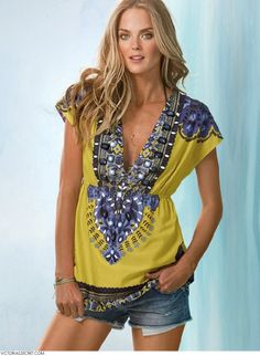 TriBeCa, Battery Park, Financial District, SoHo's Online Consignment Boutique: Victoria's Secret Beaded Voile Top