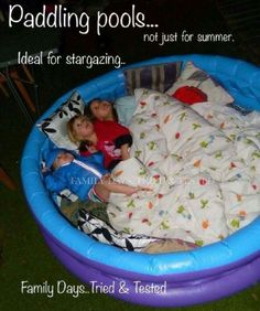 18 Ridiculously Awesome Things to Do with a Kiddie Pool - Gl.- 18 Ridiculously Awesome Things to Do with a Kiddie Pool – Glue Sticks and Gumdrops 18 tolle Ideen mit Kinderpools, DIY mit Pool / Kinderbecken kiddie pool hacks 18 - Summer Activities, Family Activities, Outdoor Activities, 3 Month Old Activities, Preschool Family, Children Activities, Camping Activities, Camping Crafts, Kiddie Pool