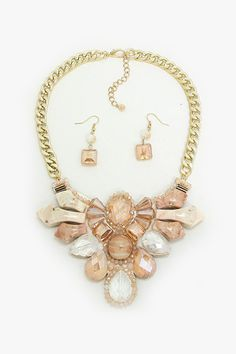 Valencia Statement Necklace in Ivory on Emma Stine Limited