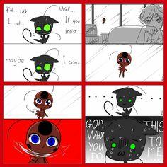 when adrien asks plagg to reveal ladybug´s identity - Ladybug E Catnoir, Ladybug Comics, Bugaboo, Lady Bug, Marinette E Adrien, Tikki Y Plagg, Marinette Ladybug, Miraculous Ladybug Fan Art, Miraculous Ladybug Plagg
