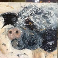 Pig in oils. Jan 2014