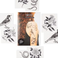 Tattly's flora and fauna temporary tattoo set is designed by a real tattoo artist | Cool Mom Picks #carepackageideas #giftsforkids #summercamp #campgifts #giftsfortweens #giftsforteens Real Tattoo, Tattoo Set, Fake Tattoos, Tween Gifts, Gifts For Teens, Camp Care Packages, Best Summer Camps, Cool Mom Picks, Cool Gifts For Kids
