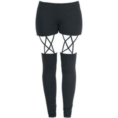 Stapped Leggings ($28) ❤ liked on Polyvore featuring pants, leggings, bottoms and legging pants