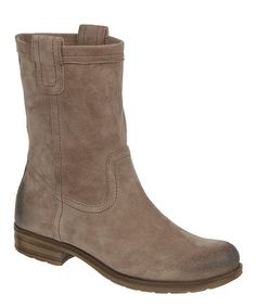 I bought these from Macy's this winter--my favorite boots ever!  This Dover Taupe Suede Basha Boot by Naturalizer is perfect! #zulilyfinds