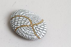 Meditation Stone, Hand Painted Rock with Chinese Character, Light, Home Decor