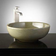Colchester Hand-Glazed Pottery Vessel Sink - Toasted Sage