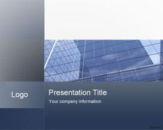 Professional Blue Corporate Office PowerPoint Template